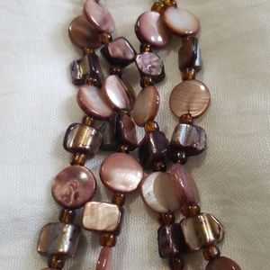 Beautiful brown shell necklace